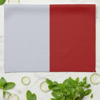 Rectángulos rojos y grises toalla de mano