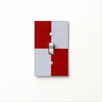Rectángulos rojos y grises cubiertas para interruptor