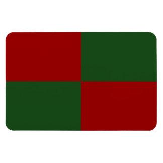 Rectángulos rojos y verdes imanes