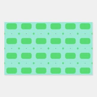 Rectángulos verdes pegatina rectangular
