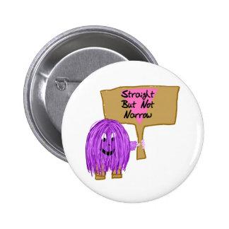 Recto pero no estrecho púrpuras pin redondo 5 cm