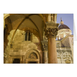 Rector's Palace Arches with Dubrovnik Cathedral Card