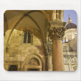 Rector's Palace Arches with Dubrovnik Cathedral Mouse Pad