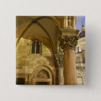 Rector's Palace Arches with Dubrovnik Cathedral Pinback Button