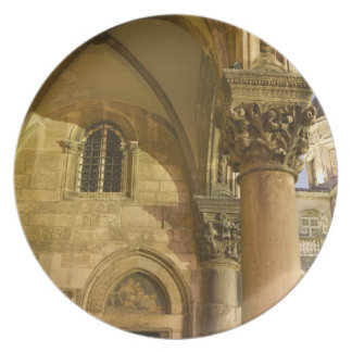 Rector's Palace Arches with Dubrovnik Cathedral Plate
