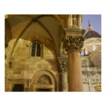 Rector's Palace Arches with Dubrovnik Cathedral Print