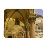 Rector's Palace Arches with Dubrovnik Cathedral Rectangle Magnet
