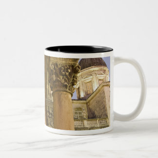 Rector's Palace Arches with Dubrovnik Cathedral Two-Tone Coffee Mug