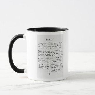 Recueillement', signed sonnet, 1861 mug