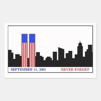Recuerde 9-11-01 etiqueta