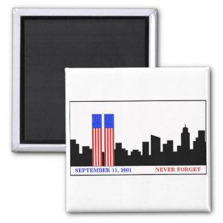 Recuerde 9-11-01 imán de nevera