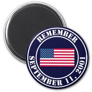 Recuerde 9/11 imanes para frigoríficos