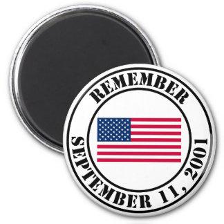 Recuerde 9/11 imán redondo 5 cm