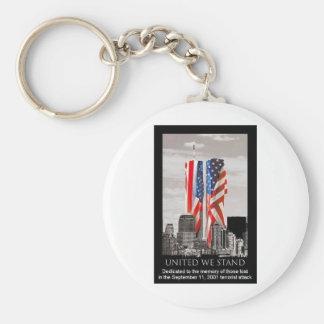Recuerde 9/11 llaveros personalizados