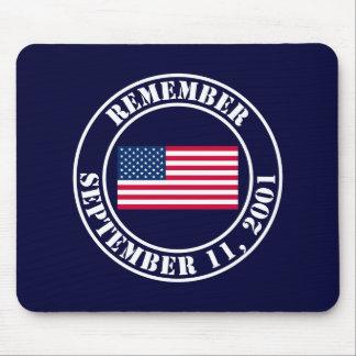 Recuerde 9/11 tapete de ratones