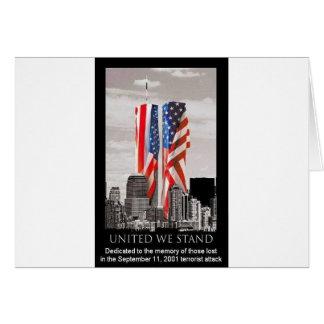 Recuerde 9/11 tarjeta