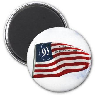 Recuerde 9/11 - Vuelo 93 Imán Redondo 5 Cm