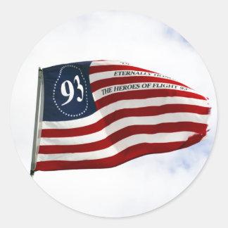 Recuerde 9/11 - Vuelo 93 Etiquetas Redondas
