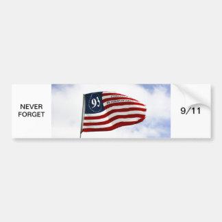 Recuerde 9/11 - Vuelo 93 Pegatina Para Auto