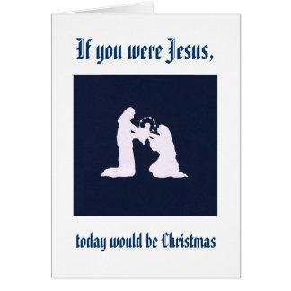 Recuerde a Jesús en su cumpleaños Tarjetas