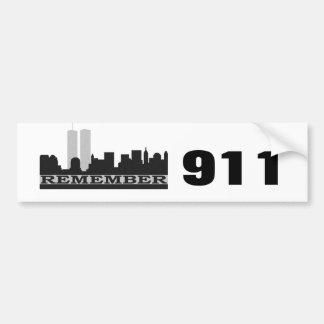 Recuerde a la pegatina para el parachoques 911 pegatina para auto