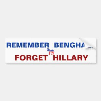 Recuerde a la pegatina para el parachoques de Beng