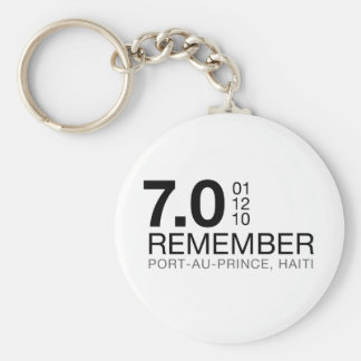 Recuerde a las víctimas de Haití - terremoto 7 0 Llaveros