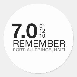 Recuerde a las víctimas de Haití - terremoto 7 0 Etiqueta