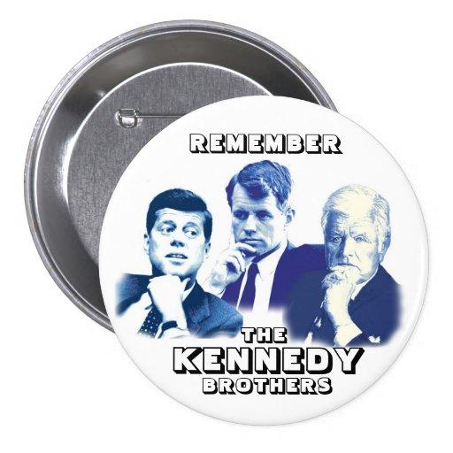 Recuerde a los hermanos de Kennedy Pins