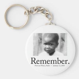 Recuerde a los niños de Haití Llaveros Personalizados
