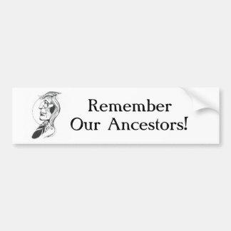 Recuerde a nuestra pegatina para el parachoques de etiqueta de parachoque