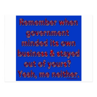 Recuerde al gobierno importado postal