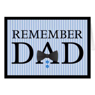 Recuerde al papá tarjeta de felicitación