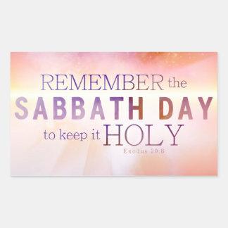 Recuerde al pegatina de los mandamientos del día