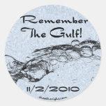 Recuerde al pegatina del golfo