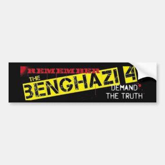 Recuerde Bengasi 4 Etiqueta De Parachoque