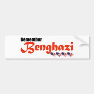 Recuerde Bengasi Etiqueta De Parachoque