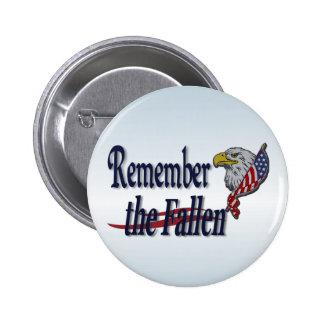 Recuerde caido con Eagle y la bandera Pin