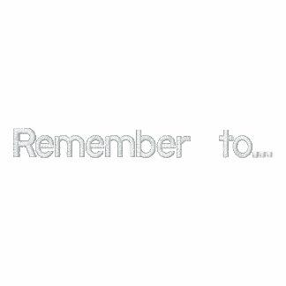 Recuerde… Camiseta Polo Bordada
