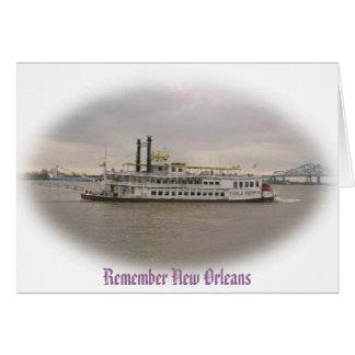 Recuerde Crusing New Orleans Tarjeta De Felicitación
