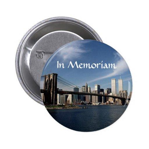 Recuerde cuando ~ en las torres gemelas WTC NYC Pin Redondo De 2 Pulgadas