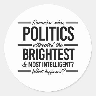 Recuerde cuando la política atrajo el más pegatina redonda