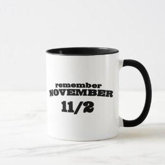 Recuerde el 11 /2 de noviembre