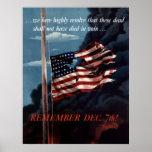 Recuerde el 7 de diciembre poster