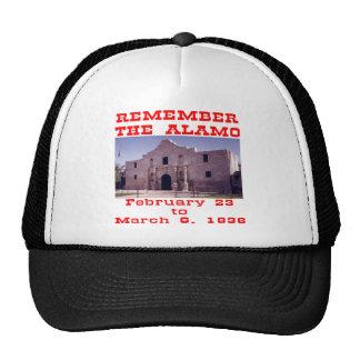 Recuerde el Álamo #001 Gorro De Camionero