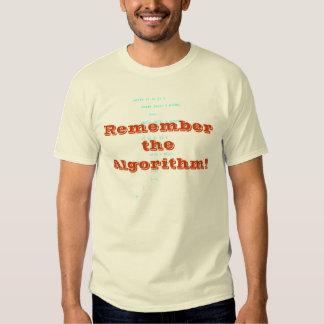 ¡Recuerde el algoritmo! Polera