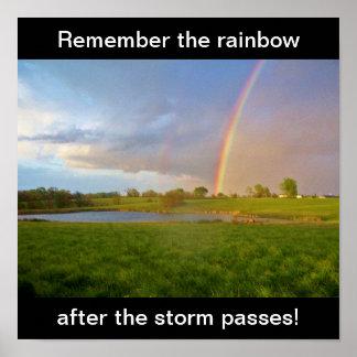 ¡Recuerde el arco iris después de que la tormenta Póster