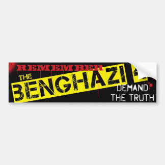 Recuerde el Bengasi 4 Pegatina Para Auto