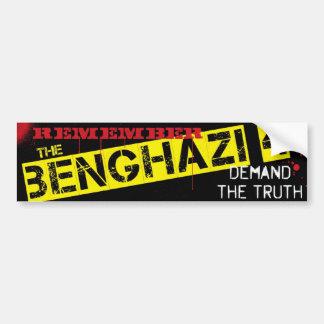 Recuerde el Bengasi 4 Pegatina De Parachoque