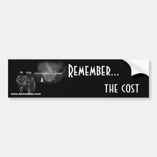 Recuerde… el coste pegatina de parachoque